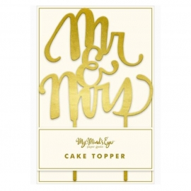 Topper para tartas de Boda Mr & Mrs