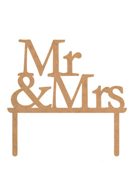 Topper para Tarta Mr & Mrs