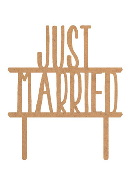 Topper para Tarta Just Married