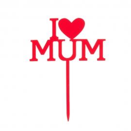 Topper Día de la Madre 12 cm x 9,9 cm