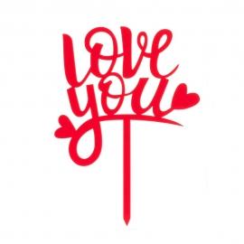 Topper Love You 13,5 x 10 cm