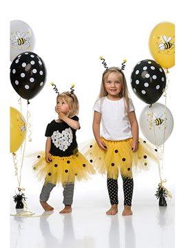Tutú Amarillo con Lunares Negros Infantil