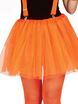 Tutú Naranja Neón 40 cm Adulto