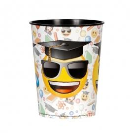Vaso de Plástico Emoji Graduado