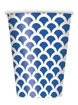 Vaso Escamas Azul y Blanco