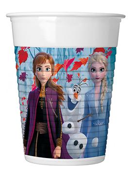 Juego de 8 Vasos de Plástico Frozen 2