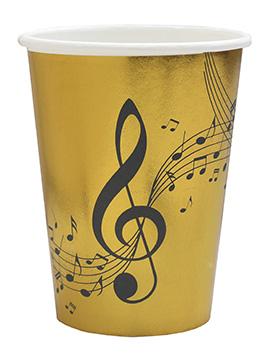 Juego de 10 Vasos Dorados Música