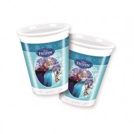 Vasos Frozen Elsa y Anna Patinando