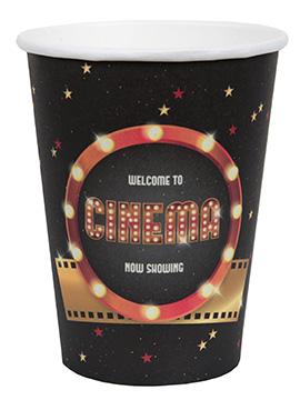 Juego de 10 Vasos Negros Cinema