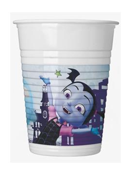Set de 8 vasos de plástico de Vampirina de 200 ml