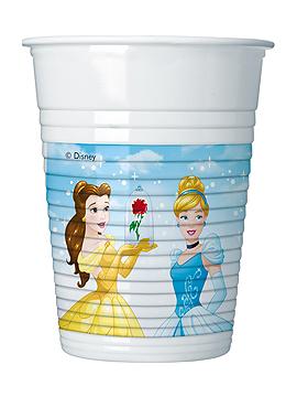 Set de 8 Vasos de Plástico Princesas Disney Heart