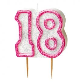 Vela 18 Cumpleaños Rosa