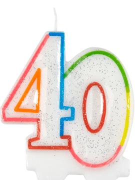 Vela 40 años Multicolor