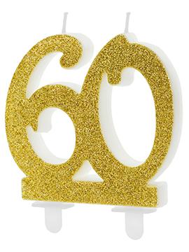 Vela 60 Cumpleaños Dorada