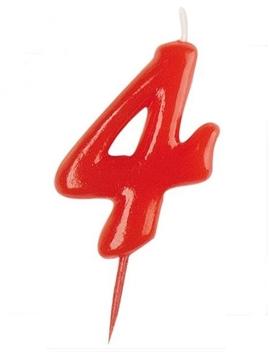 Vela Nº 4 Roja