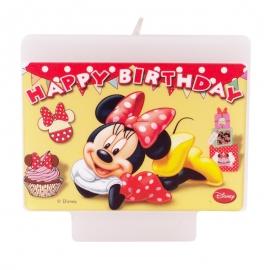 Vela Cumpleaños Minnie Mouse - Miles de Fiestas
