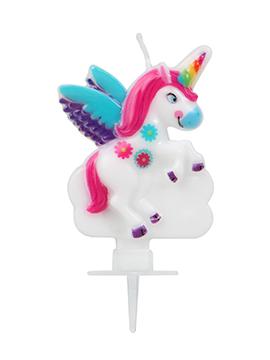 Vela de Cumpleaños Unicornio Arcoíris