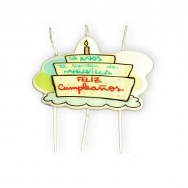 Vela Feliz Cumpleaños Pastel
