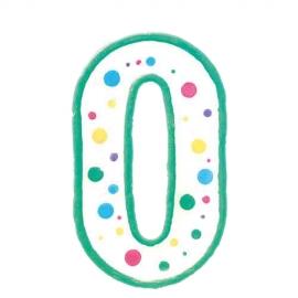 Vela de cumpleaños Nº 0 verde