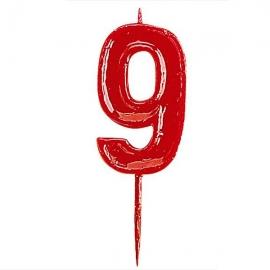 Vela Nº 9 Roja
