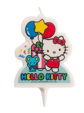 Vela de Cumpleaños Hello Kitty con Globos