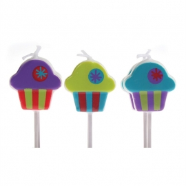 Velas cupcakes