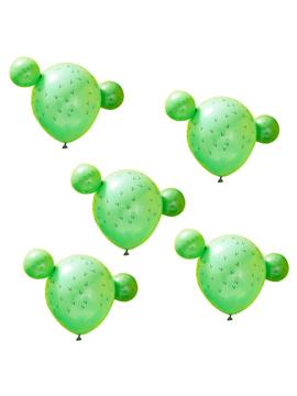 Set de 5 globos de cactus con brazos