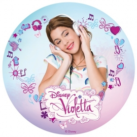Disco de oblea Violetta Escuchando Música
