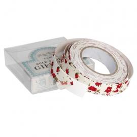 Cinta Adhesiva Red floral fabric