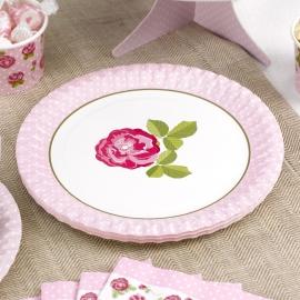 Juego de 8 Platos modelo Vintage Rose