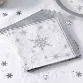 Juego de 20 servilletas Snowflakes