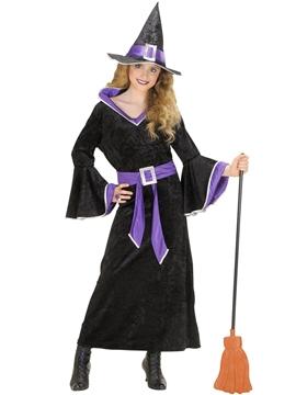 Disfraz Bruja Negro y Violeta Infantil