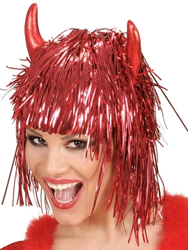 Peluca Diablesa Roja