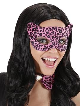 Antifaz Leopardo Rosa