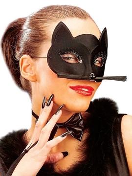 Antifaz Gato Negro con Bigotes