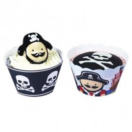 Cupcakes wraps Piratas
