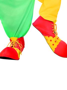 Zapatos de Payaso Rojos y Amarillos 36 cm