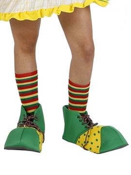 Zapatos Payaso Amarillo y Verde Infantil