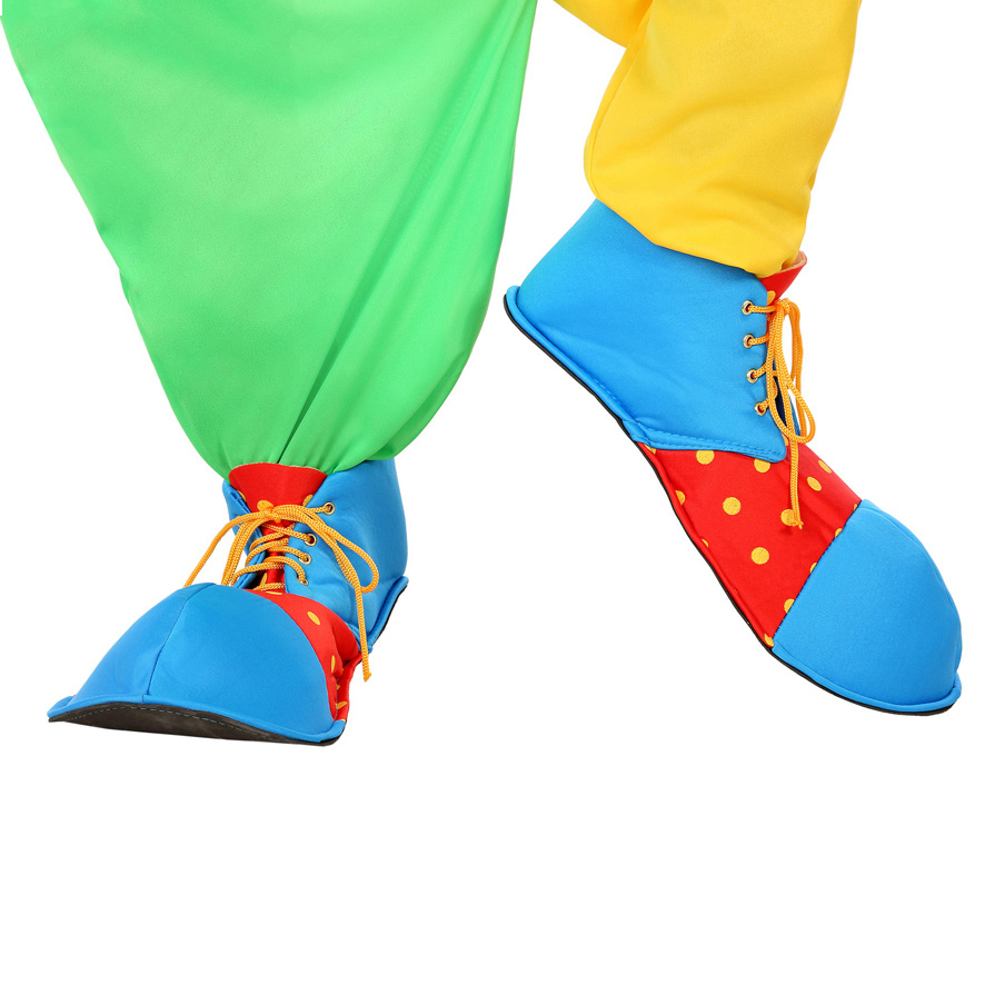 Zapatos de Payaso Rojos y Azules 36 cm