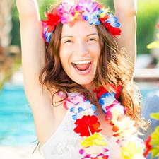 Faldas y Collares Hawaianos