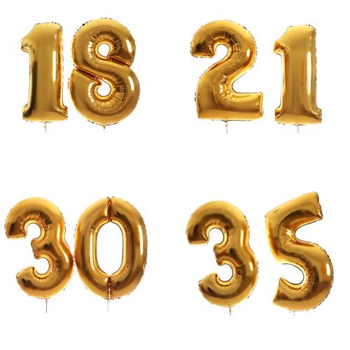 Globos números 40 cm